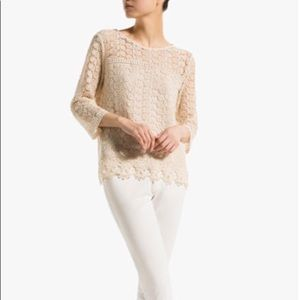 Authentic Massimo Dutti Lace Top